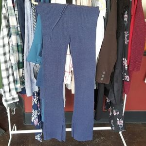 Aerie Ribbed Sweater Pants | Size Small | Blue